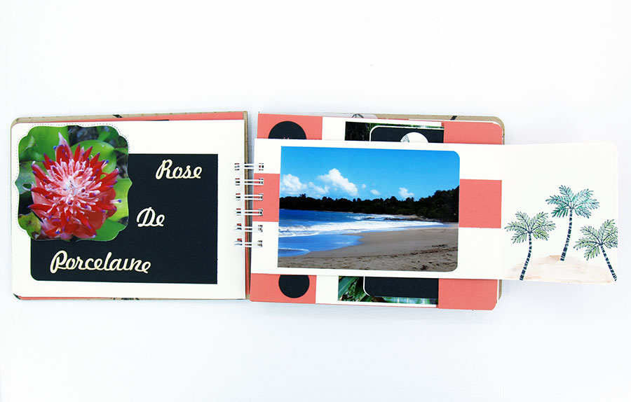 Pages d'album photographique avec vue sur la plage