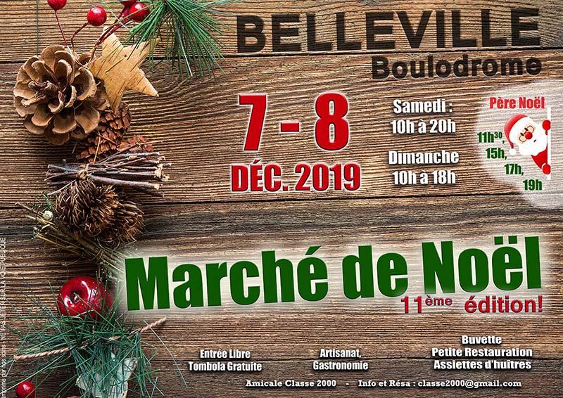 Marché de Noël de Belleville 2019 avec LaserEnFolie